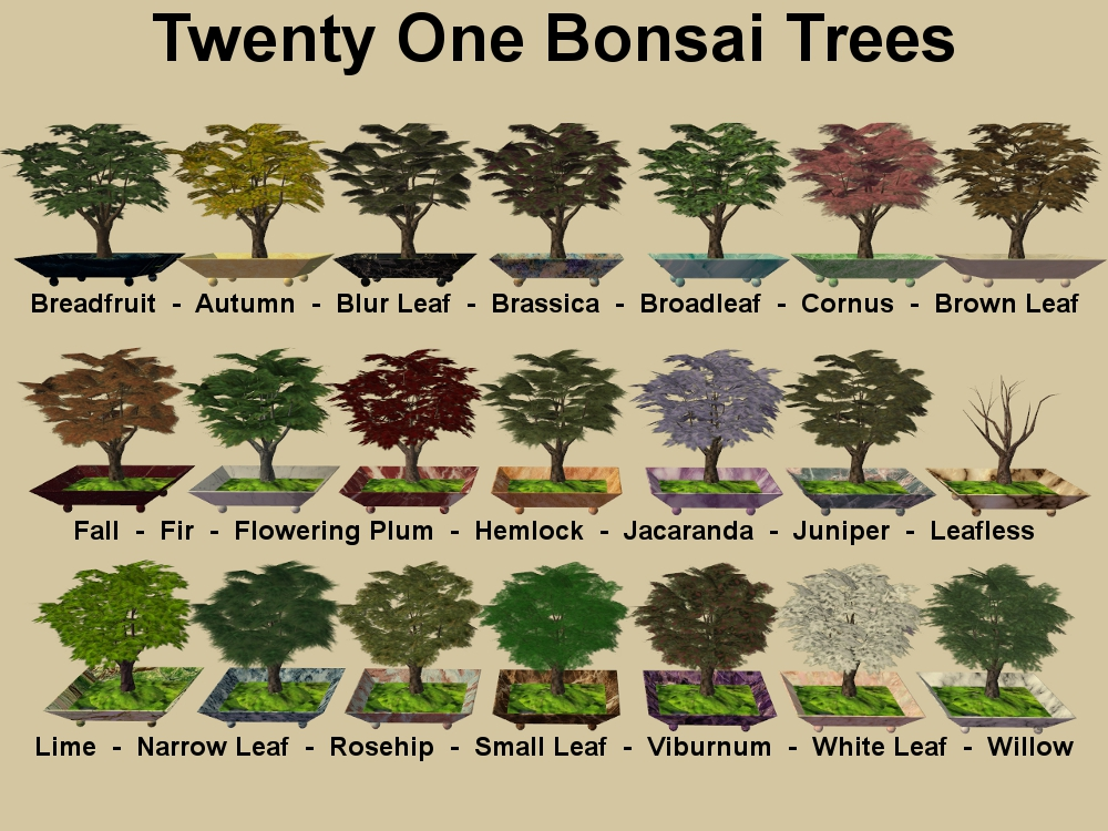 mod the sims new bonsai tree for your game