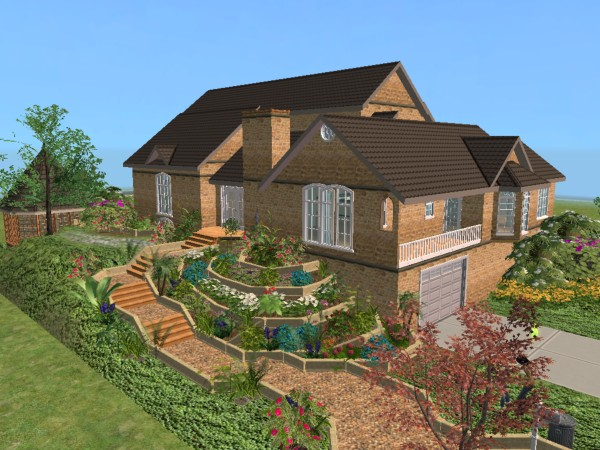 Mod The Sims Beautiful Split Level Home Requested By