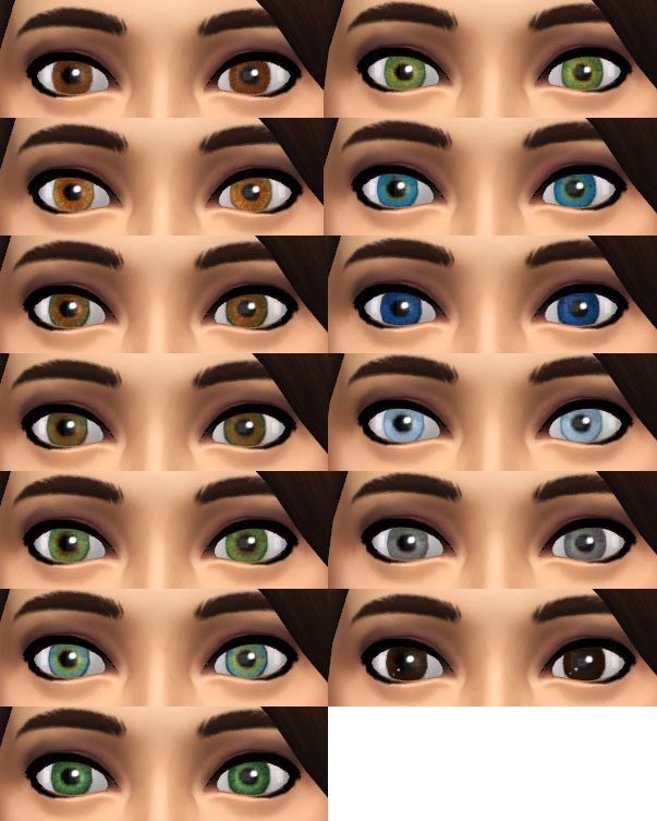 Mod The Sims Replacement Eyes For Sims 4