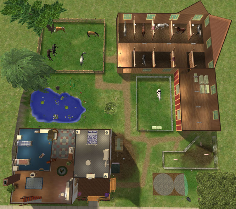 Mod The Sims Farm Amp Stable Fully Furnished Minimal Cc