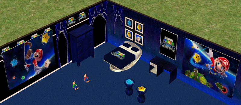 Bedroom Creator mod the sims - super mario galaxy bedroom