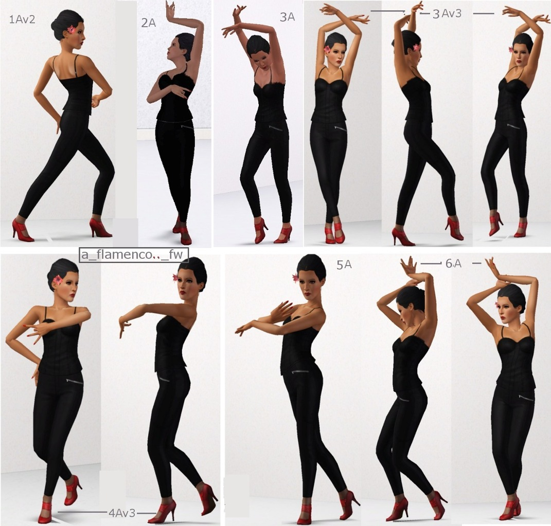 Mod The Sims Mix Amp Match Flamenco Couple Poses 1