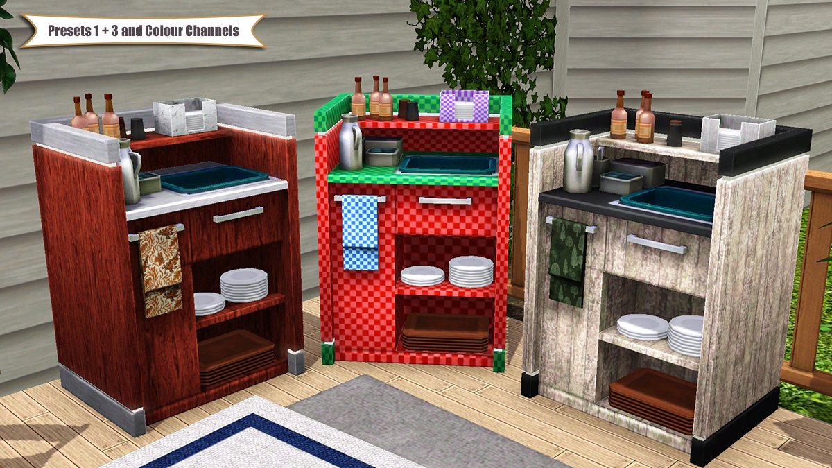 Mod The Sims - TS4 Waiter Station Cabinet