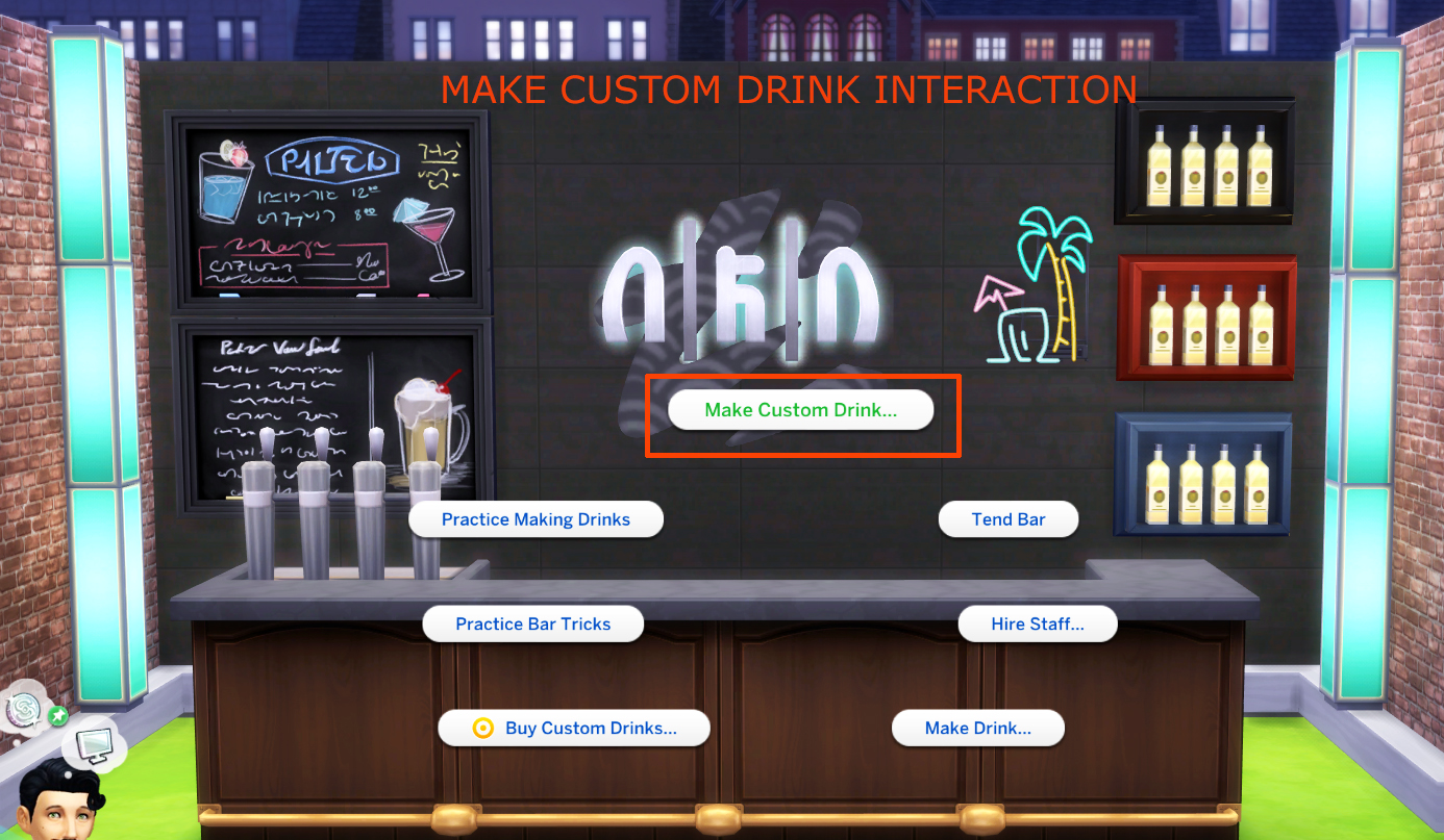 Mod The Sims - Custom Drink Interactions (Update 12th May 2019)