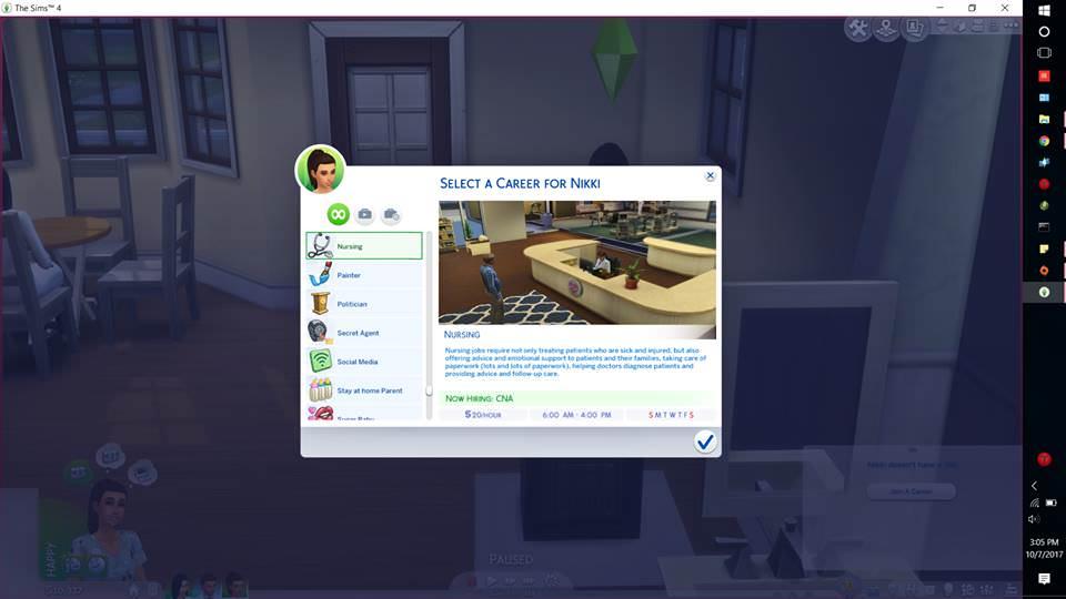 Mod The Sims - Nursing Career