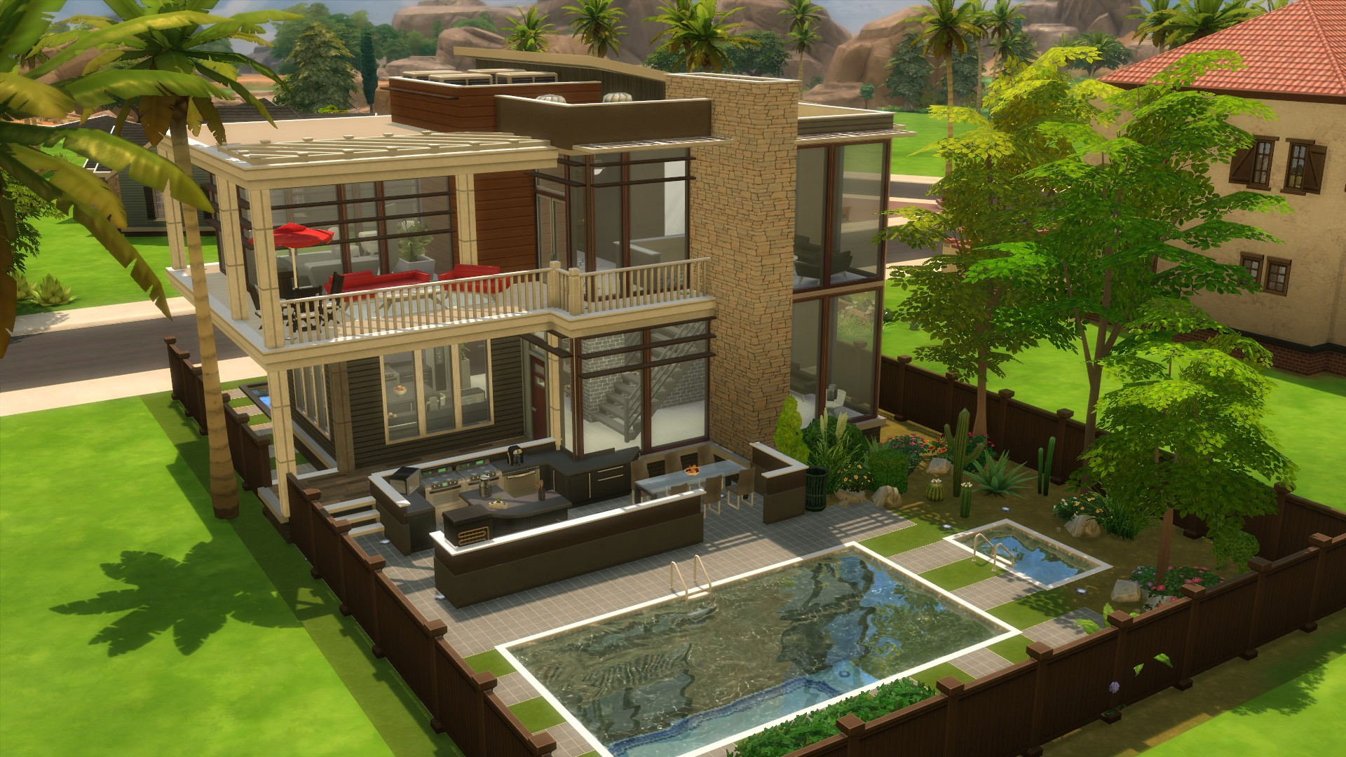 Mod The Sims - Modern Basegame Mansion