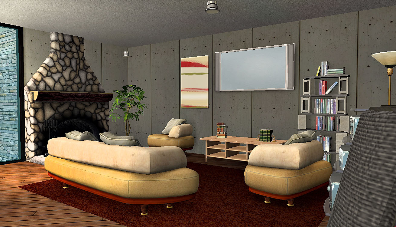 Mod the sims contemporary mountain for Living room 5x3