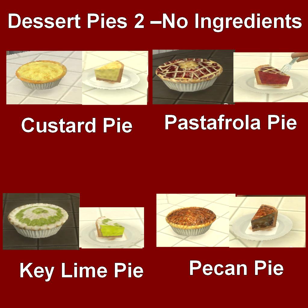 Mod The Sims - Custom Food Dessert Pies 2