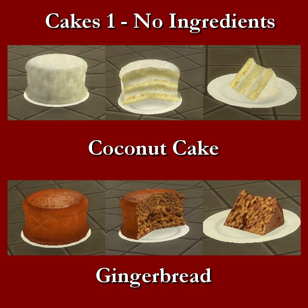 Mod The Sims Custom Food Cakes No Ingredients 1