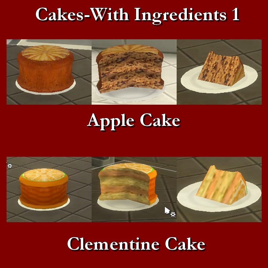 Mod the sims custom food cakes with ingredients 1 for Customiser cuisine