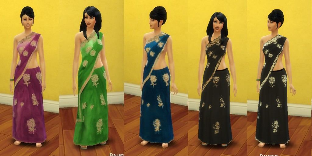 Mod The Sims Indian Sarees Sari