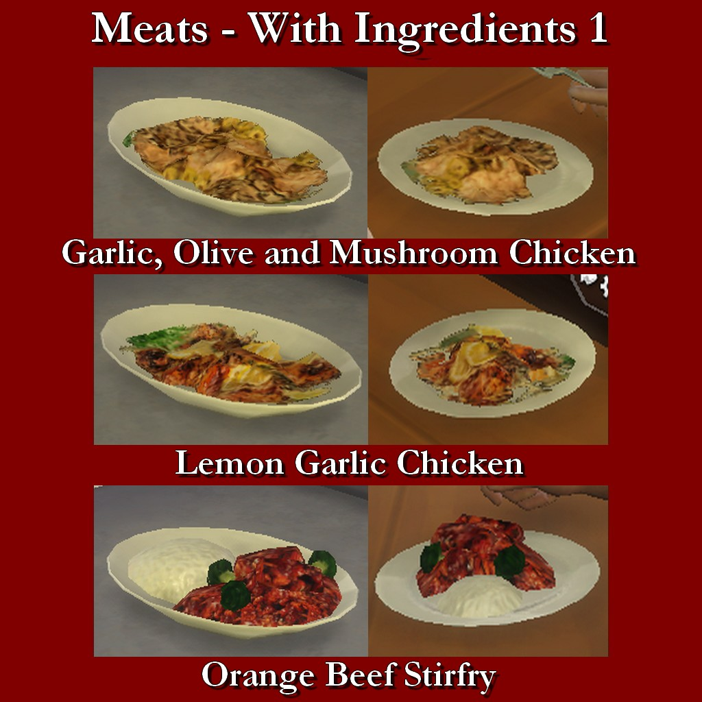 Mod The Sims Custom Food Meats With Ingredients 1