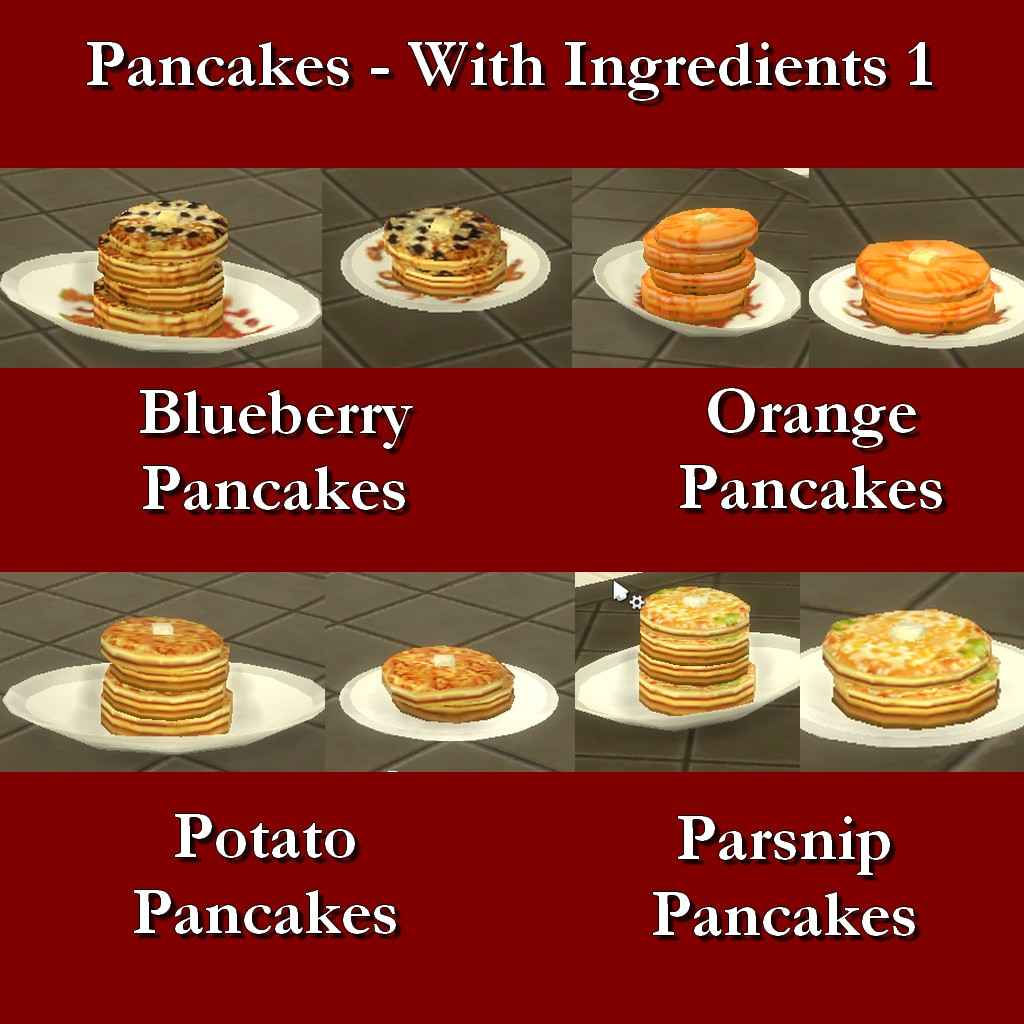 Mod the sims custom food pancakes with ingredients 1 for Customiser cuisine