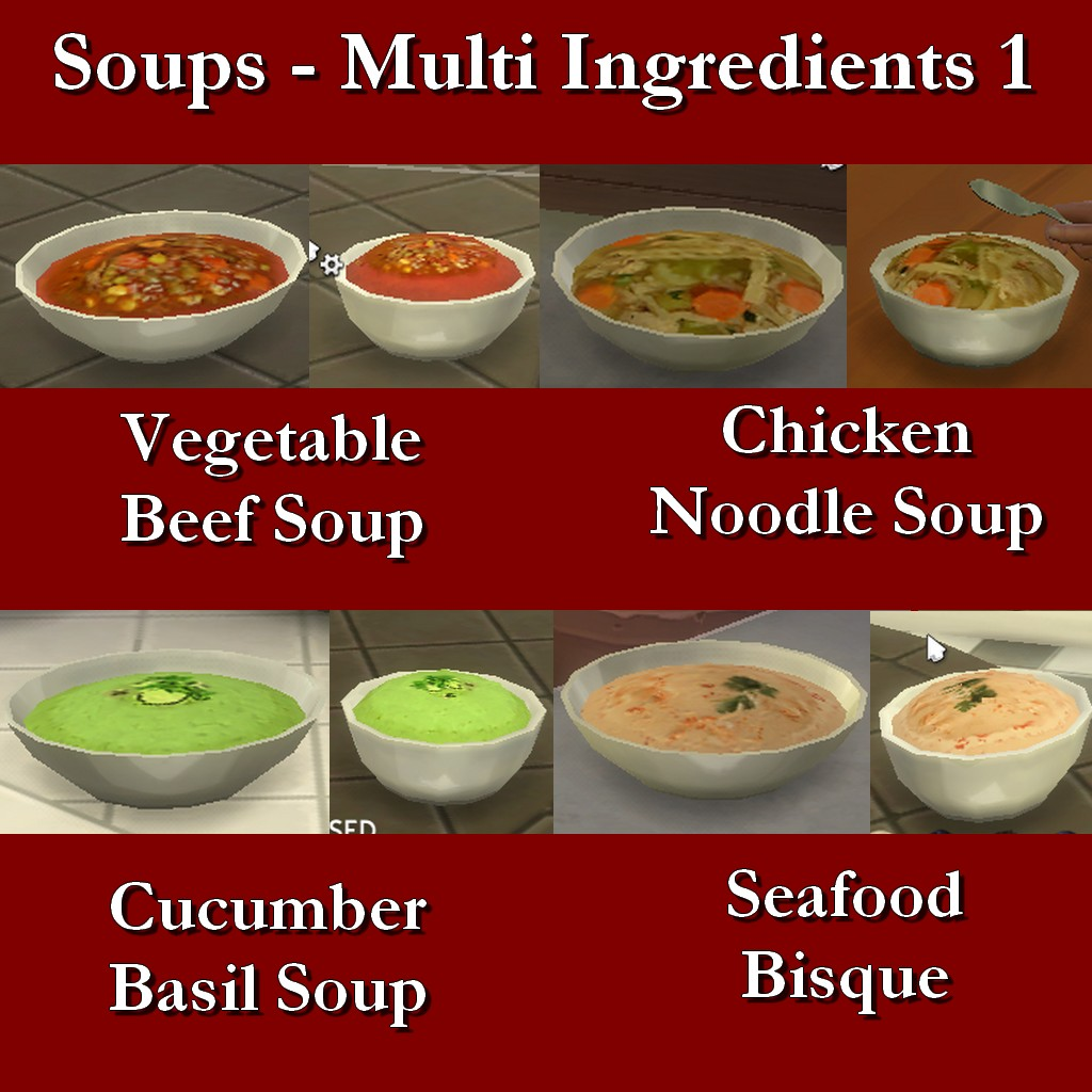 Mod The Sims Custom Food Soups Multi Ingredient 1