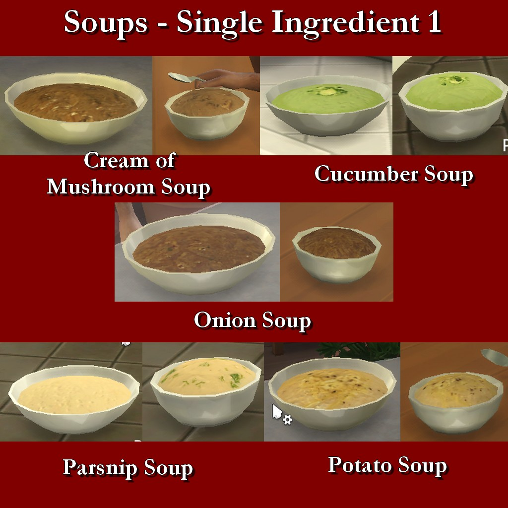 Mod the sims custom food soups single ingredient 1 for Customiser cuisine