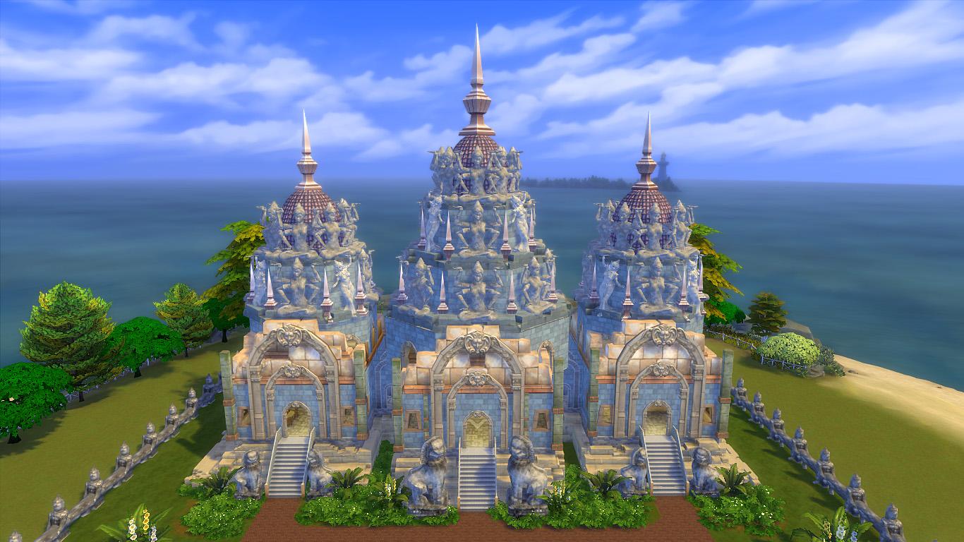Храм Накара, версия II - крыши в камбоджийском стиле