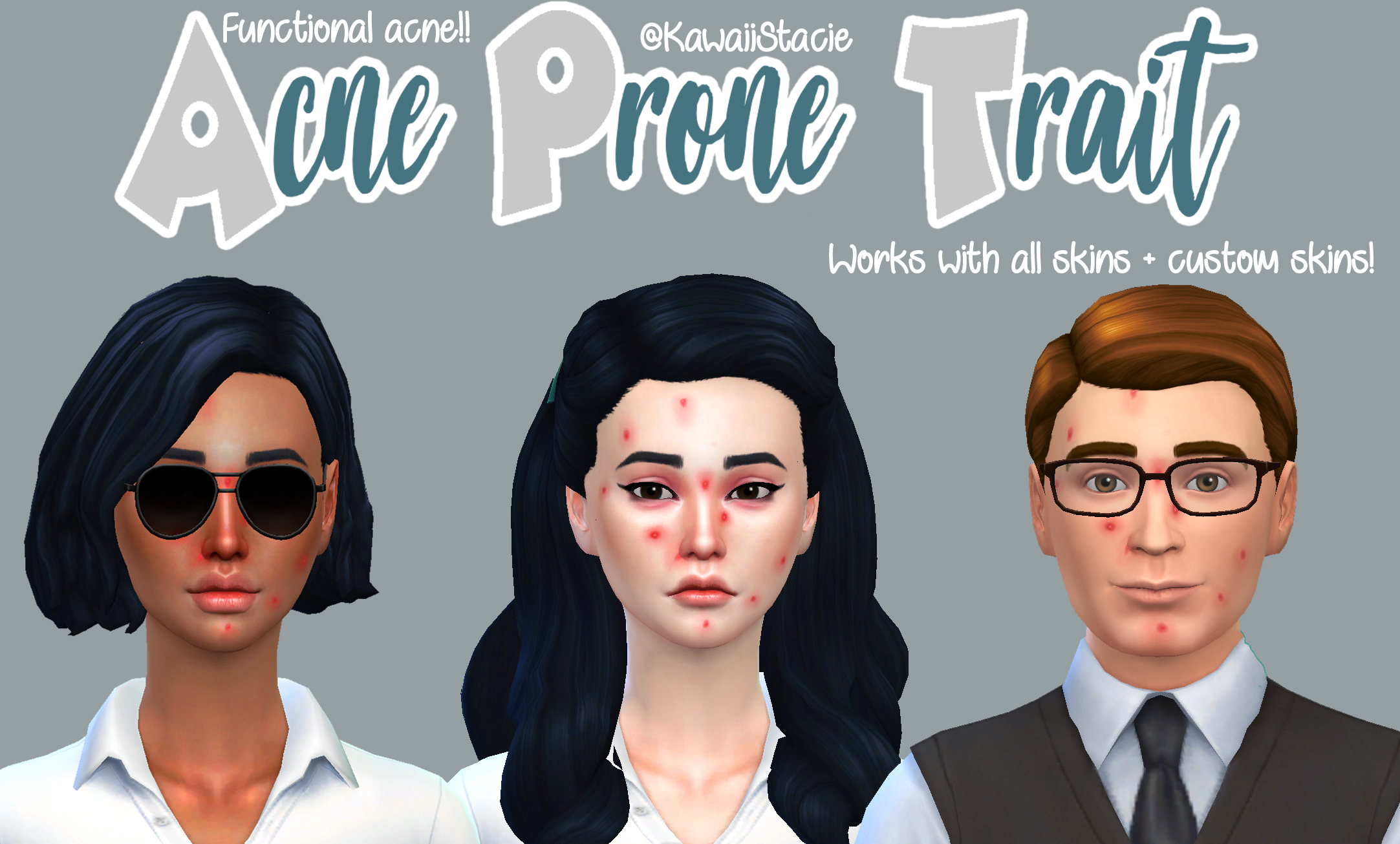 Mod The Sims - Functional Acne Mod