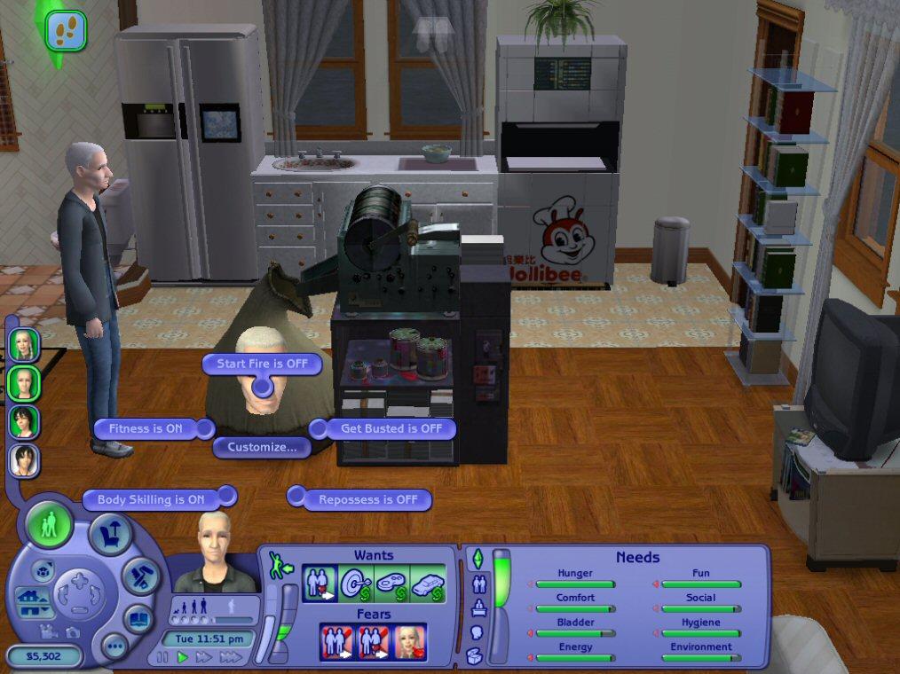 sims 2 counterfeit machine