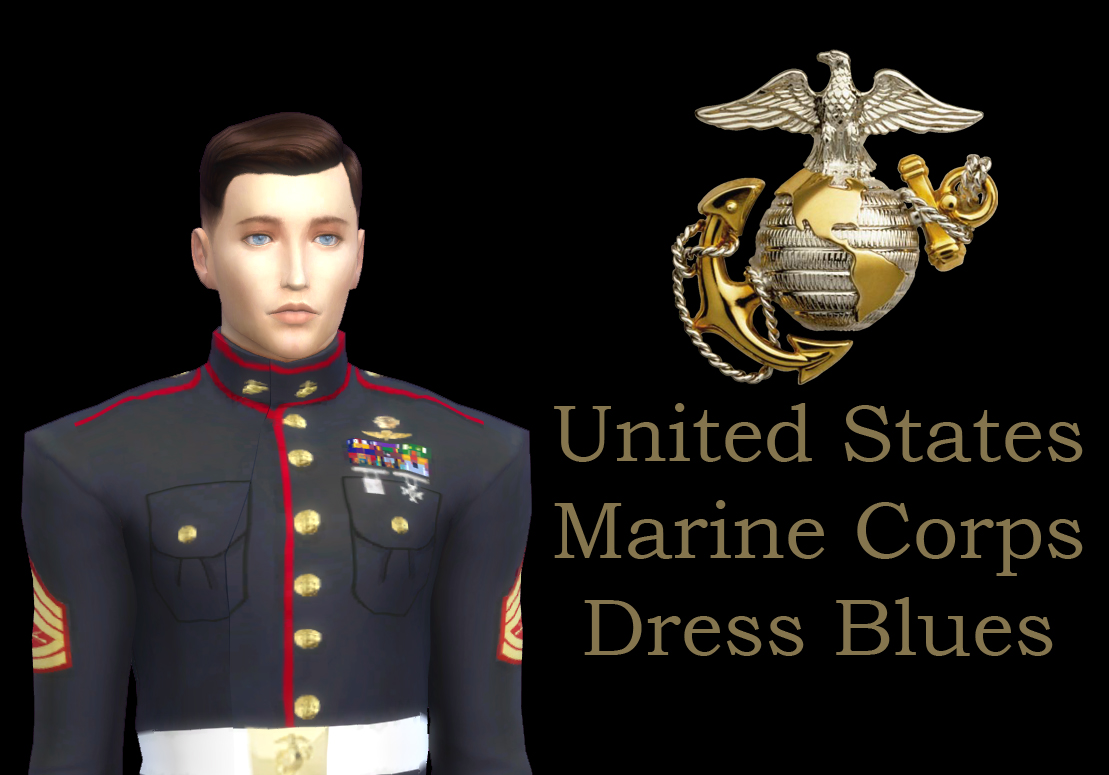 Mod The Sims United States Marine Corps Blue Dress B Uniform