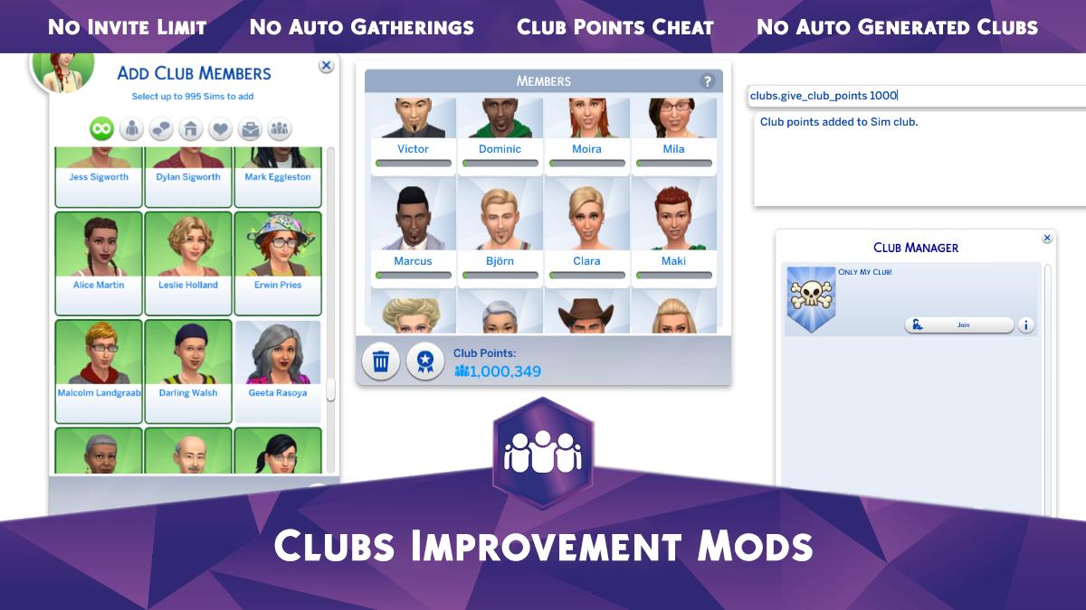 Мод Модификации Клубов