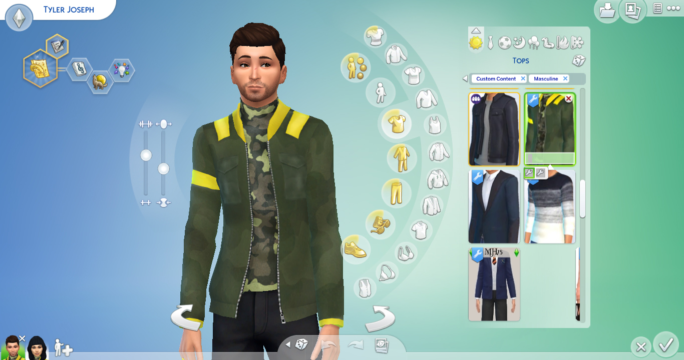 mod the sims tyler joseph trench inspired jacket
