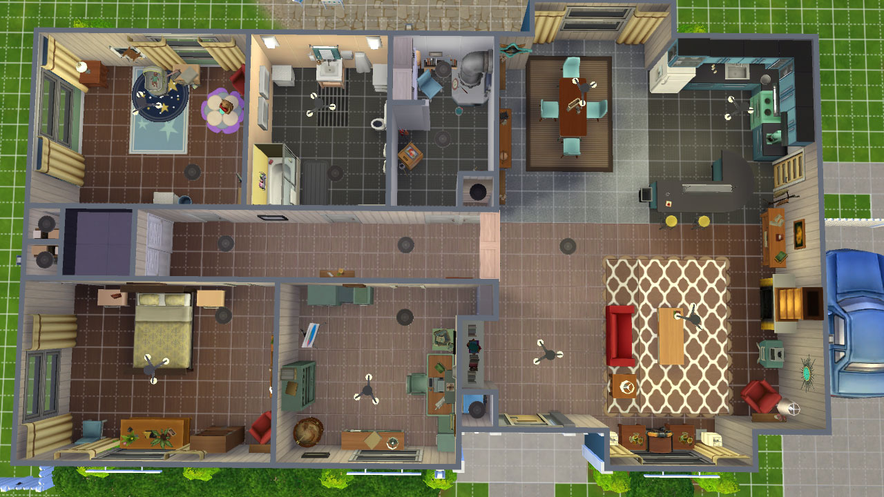 Mod the sims retro home of tomorrow from fallout 4 for Tomorrow s home