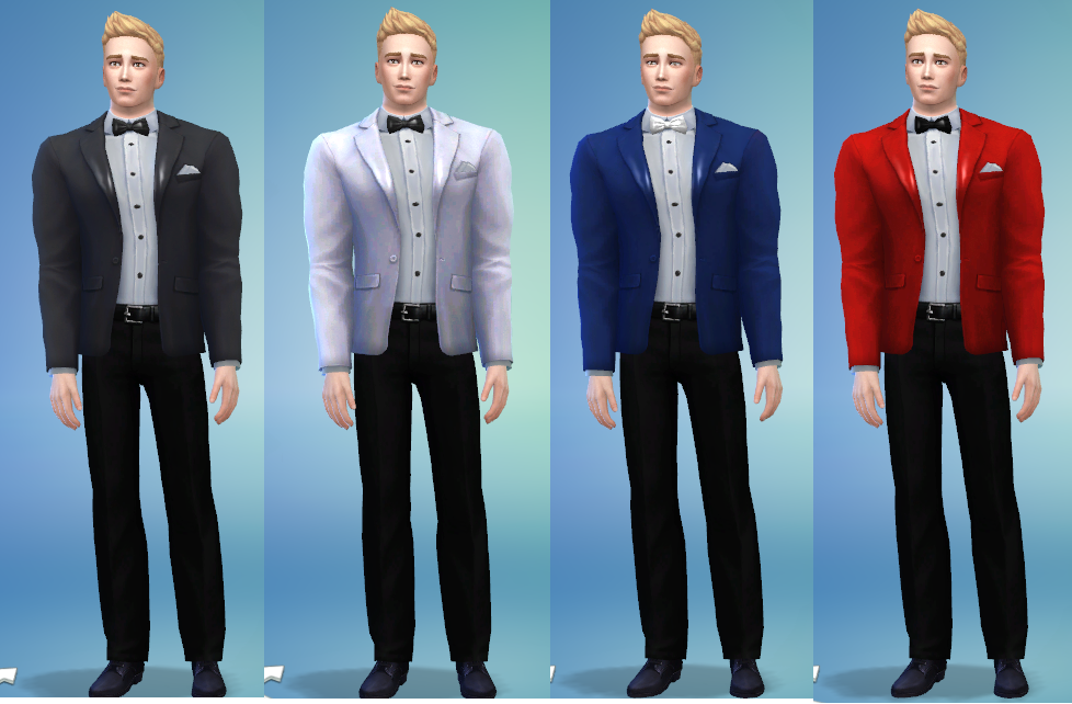Mod The Sims Fix And Update Male Tuxedo Top Set