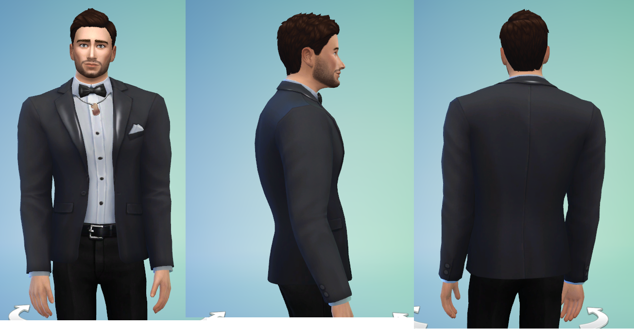 Mod The Sims - Fix and Update : Male Tuxedo Top Set