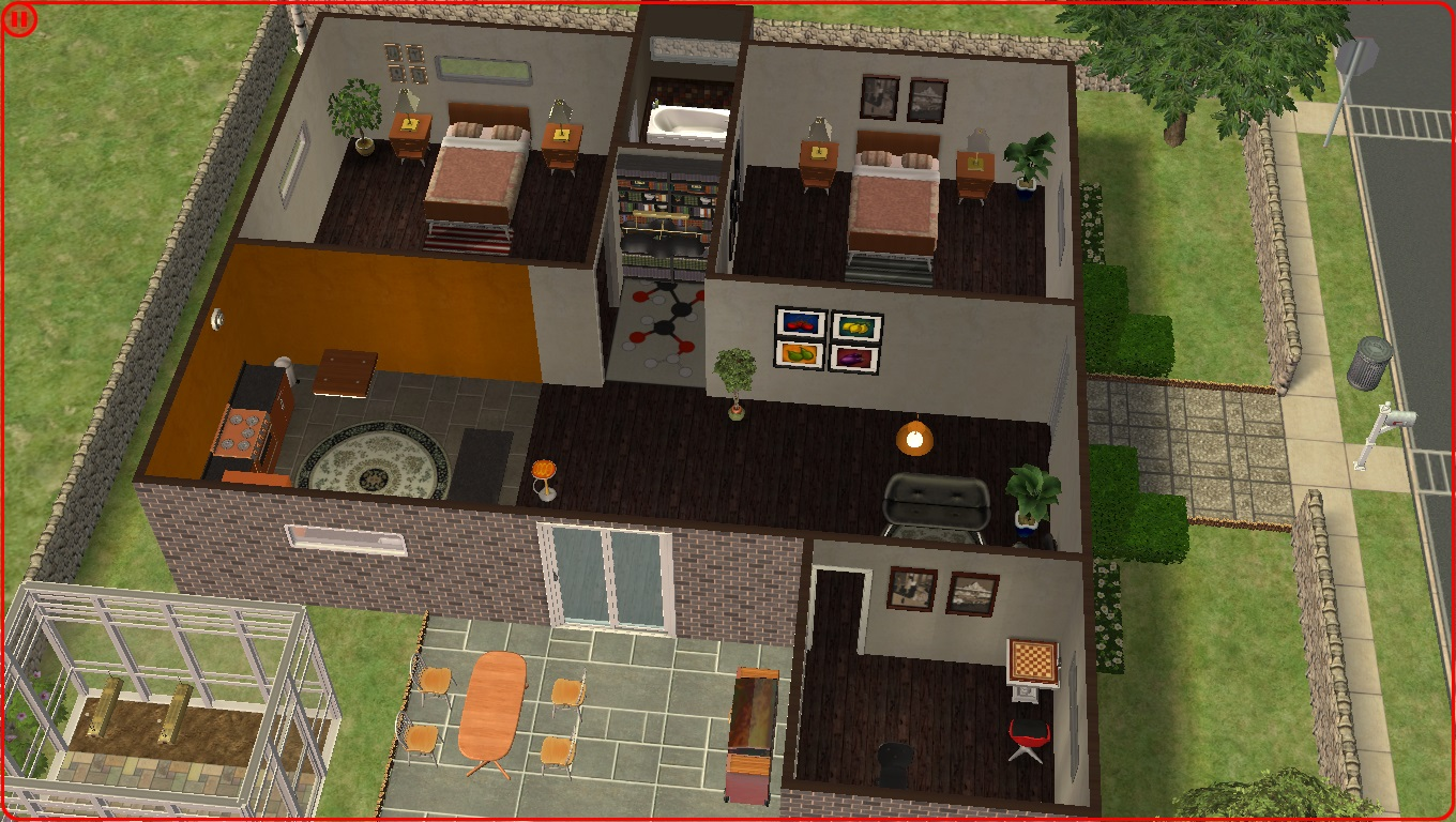 Mod the sims modern small house for Modern house ep 9