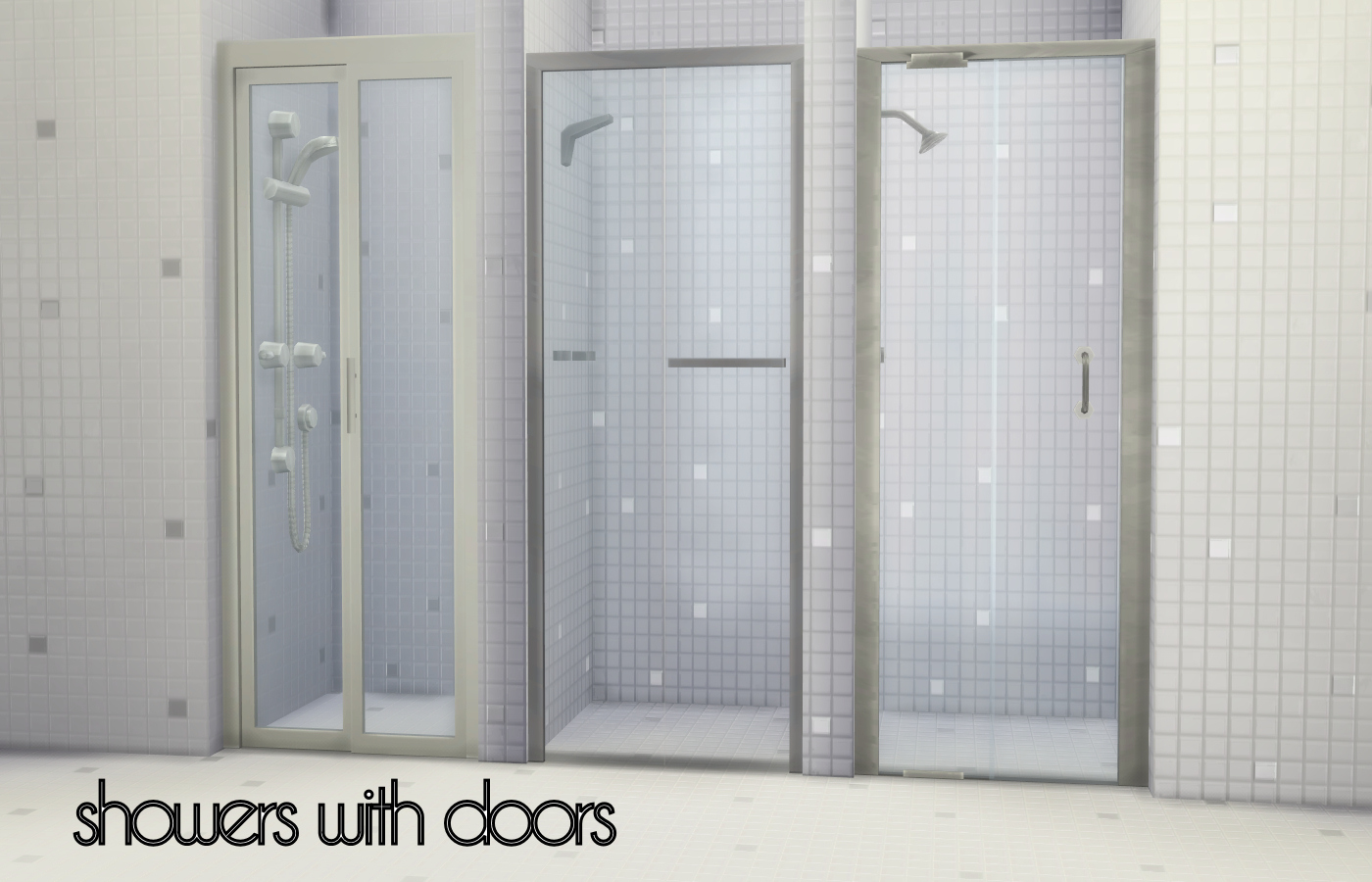 Mod The Sims - Build-a-Shower Kit