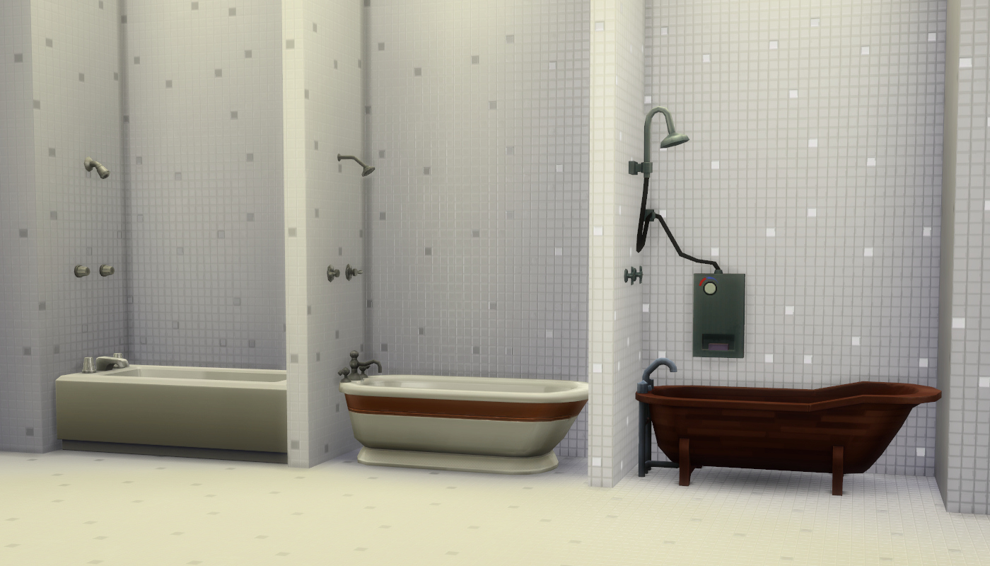 Mod The Sims - Mix-n-Match Showers & Tubs