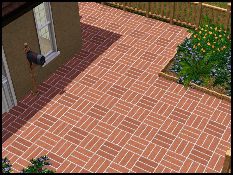 Mod The Sims Basketweave Stone Paving Pattern