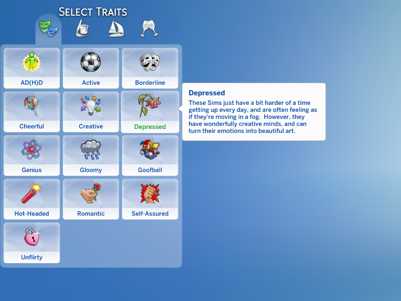 Mod The Sims - Depressed Trait (Updated for Pets)
