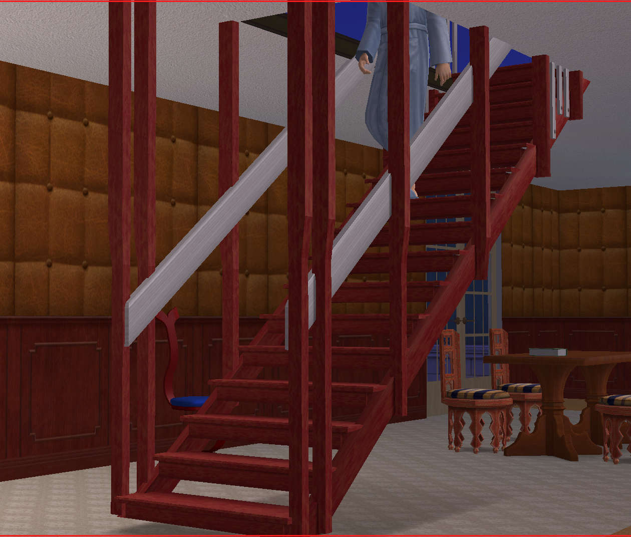 I Saw A Suspended Staircase In A Magazine And, Yup, My Sims Had To Have  One. Here It Is.