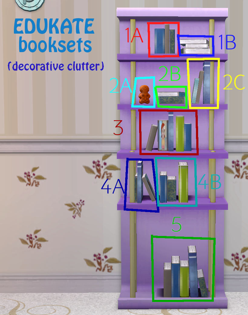 Mod The Sims Edukate Booksets Decorative Clutter