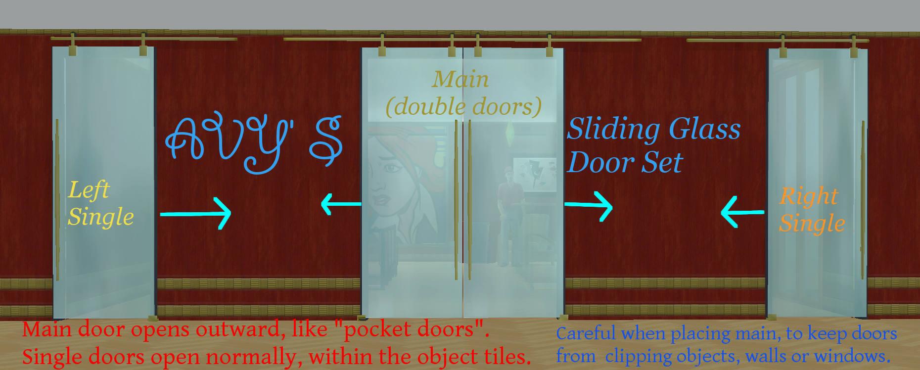 Mod The Sims Avys Sliding Glass Door