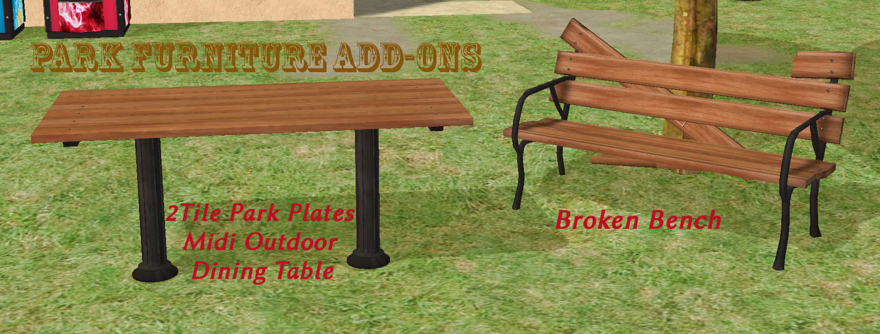 Awesome Mod The Sims Benches And More For Community Lots Caraccident5 Cool Chair Designs And Ideas Caraccident5Info