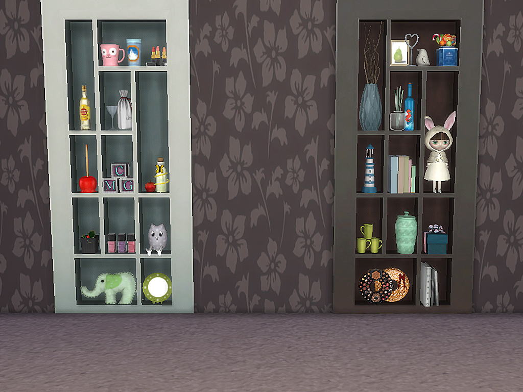 Mod The Sims Hidden Bookcase Door Empty And Slotted