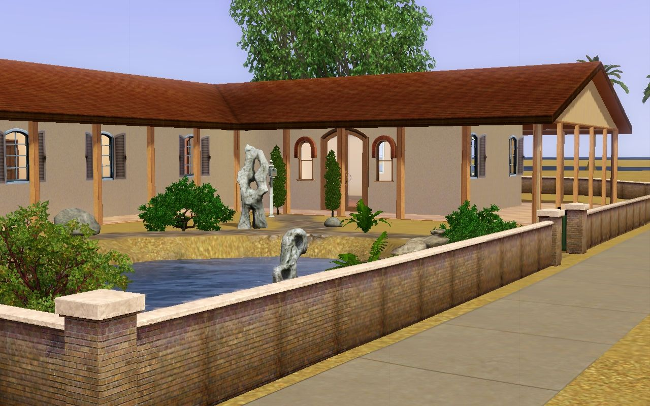 mod the sims update mediterranean bungalow 3br 1ba. Black Bedroom Furniture Sets. Home Design Ideas
