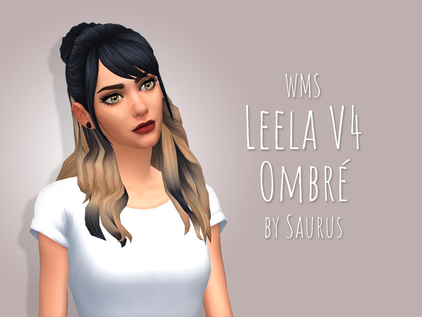 Mod The Sims Wms Leela V4 Hair Ombre Recolour