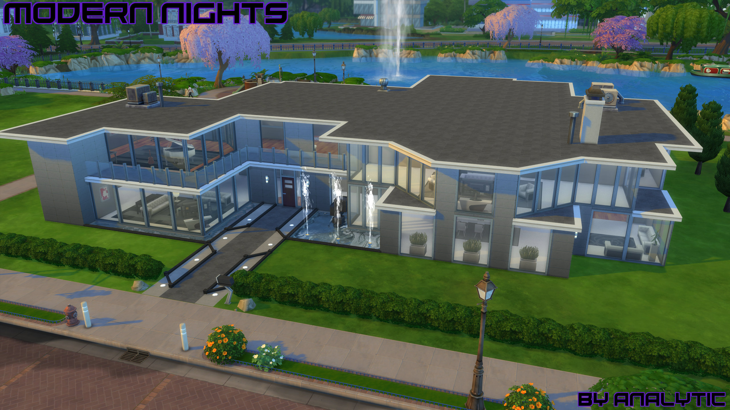 Modern nights high end modern mansion no cc