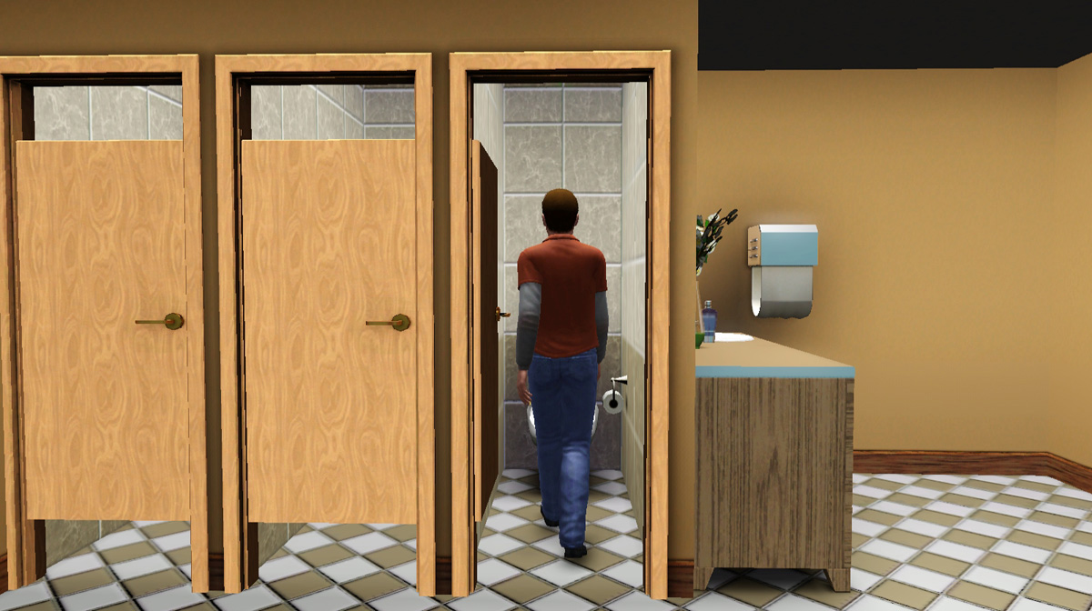 "Bathroom Stalls Sims 3 mod the sims - the discretion doors ""should be fixed this time"