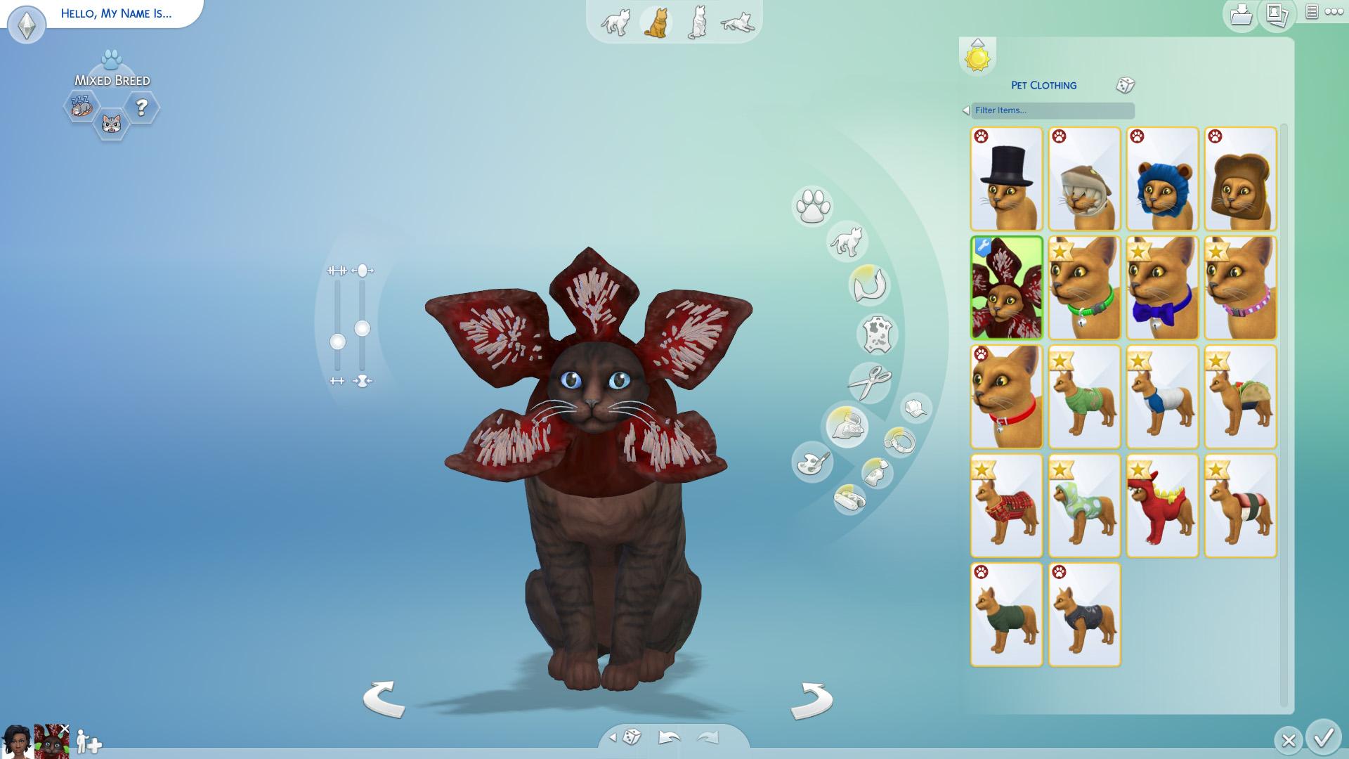 Mod The Sims Demogorgon Cat Hat
