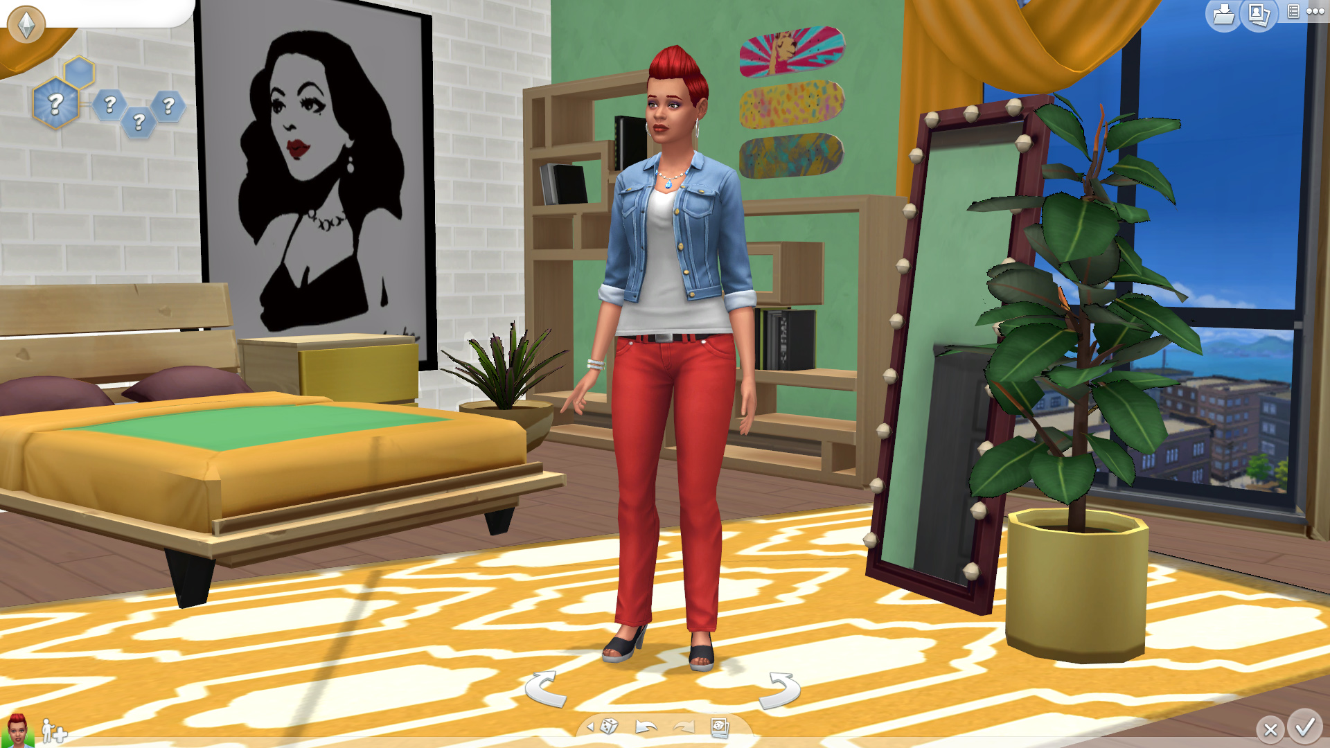 Black And Red Living Room Sims