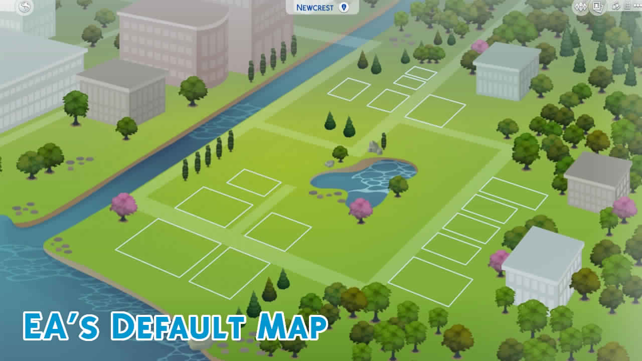 Mod The Sims Newcrest Map Reimagined Override