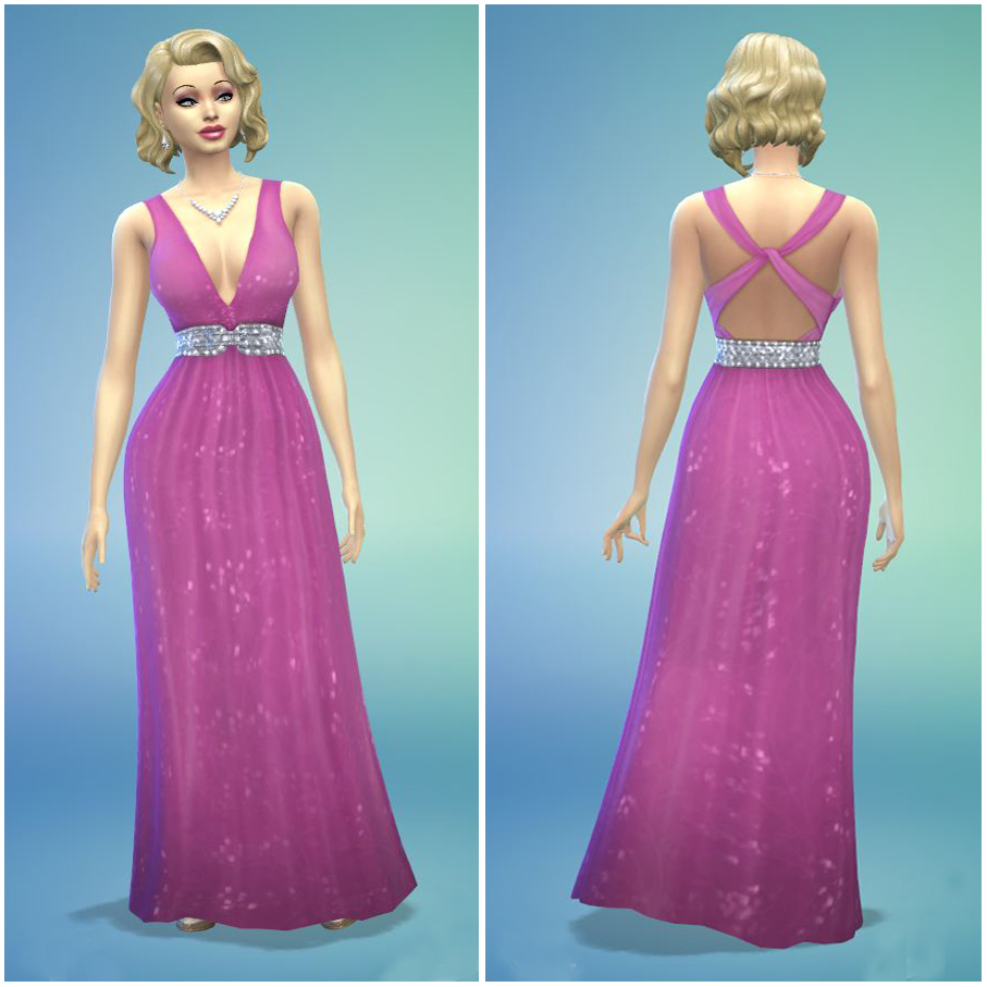 Mod The Sims - Hot Pink Formal Evening Gown by Charelton