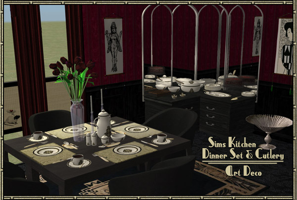 Mod The Sims Kansascityrose Sims Kitchen Dishes Art Deco