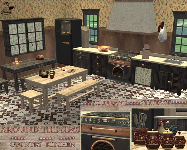 Mod The Sims - Around The Sims:Country Kitchen~Currant Cottage