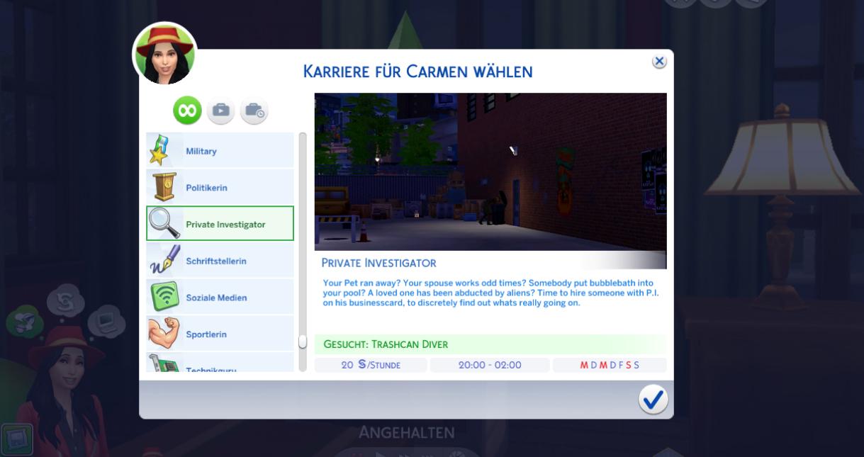 Mod The Sims Private Investigator Career Vampire Friendly