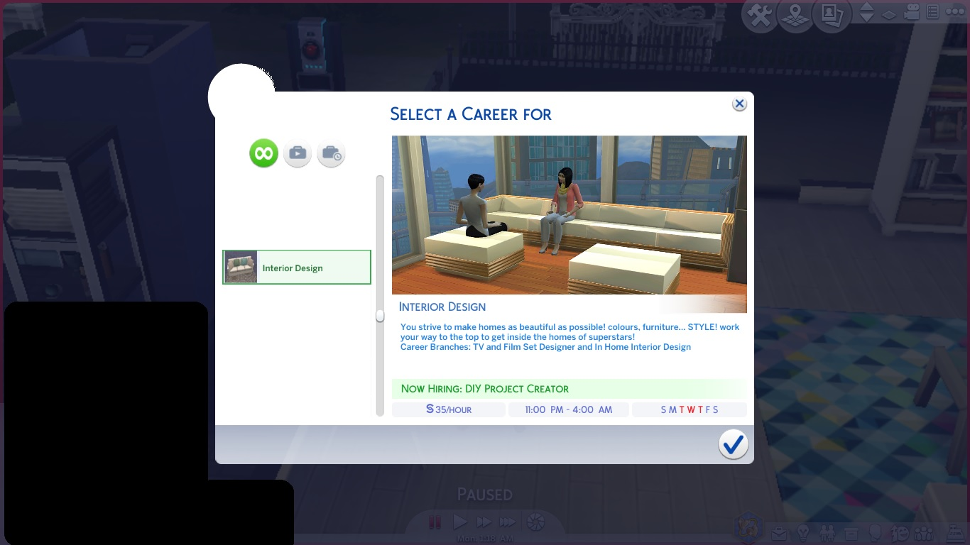 Mod The Sims Interior Design Career Updated 20th June 2020